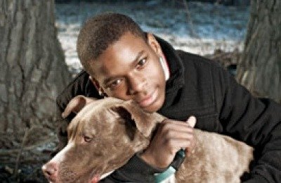 Young Chicagoan Terrence Murphy and his dog Elmo have benefited from community p