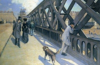 Gustave Caillebotte, Le Pont de l'Europe, 1876. Oil on canvas, 49 x 71 in. Collection of the Association des Amis du Petit Palais, Genève
