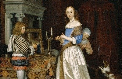 Gerard ter Borch, Lady at Her Toilet, c. 1660, oil on canvas.