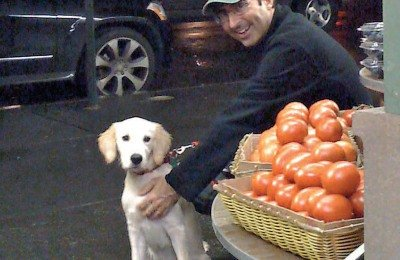 John Oliver and Dog Hoagie