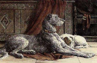 St Patrick and the Irish Wolfhounds