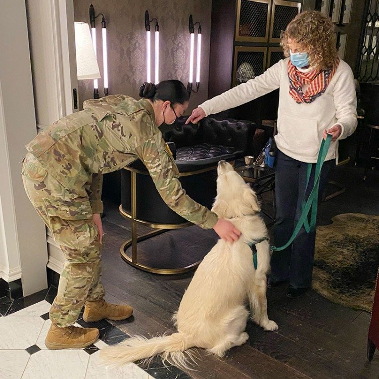 national guard with dogs