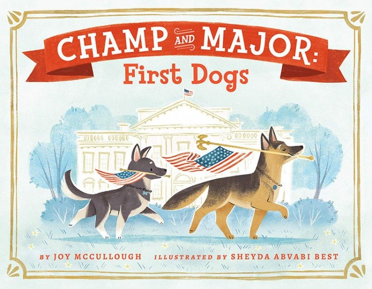 the Bidens and their two German shepherds, Champ and Major